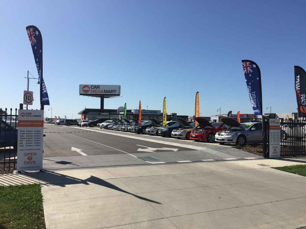 Car Megamart Pakenham concret sawing for car park