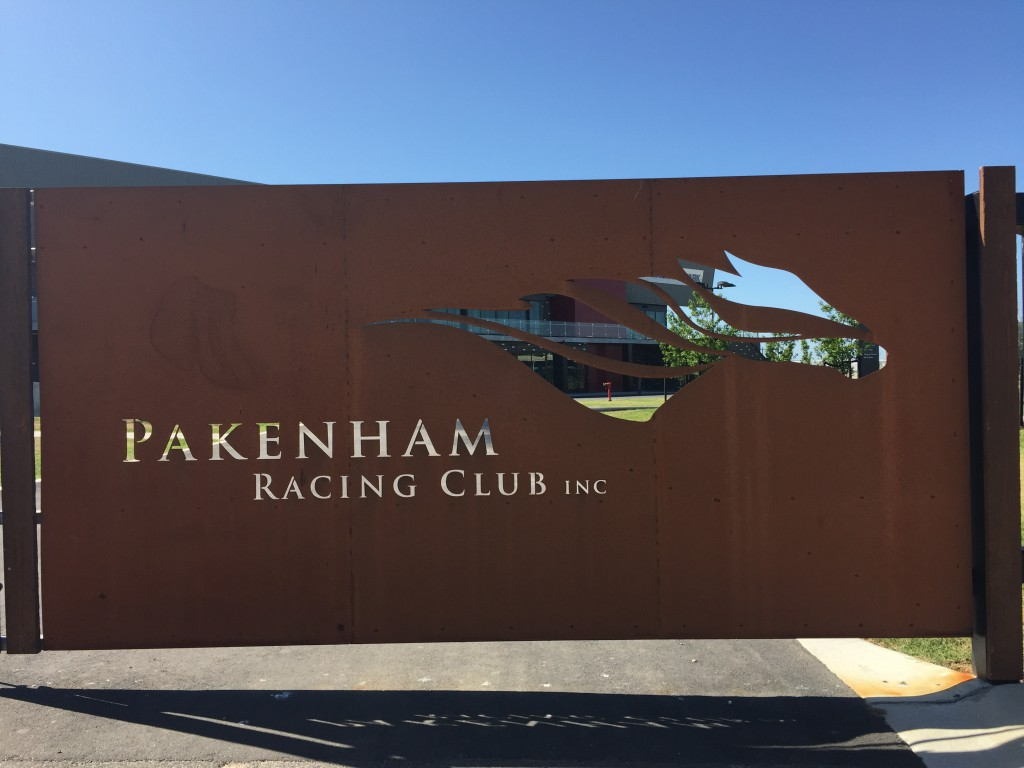 Pakenham Race Club entry signage