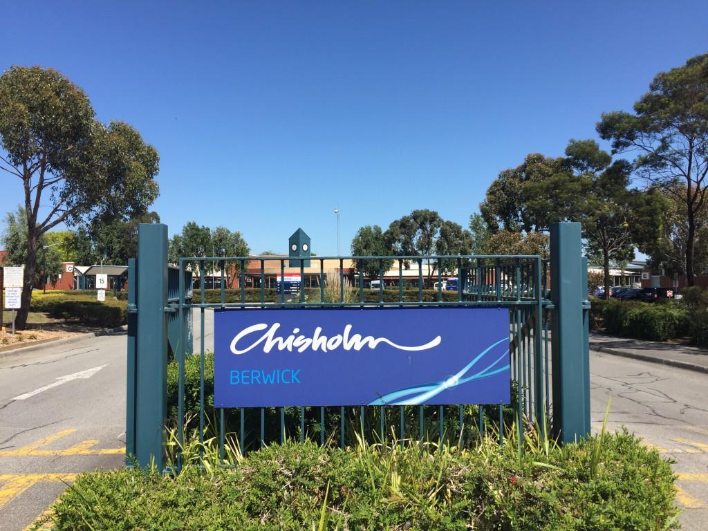 Chisholm Tafe entrance sign